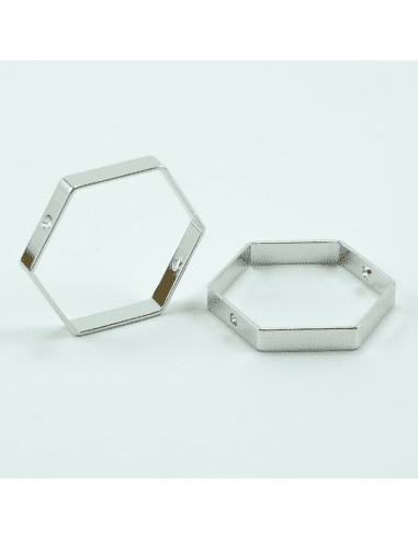 Коннектор родий 20мм (арт. КН11)