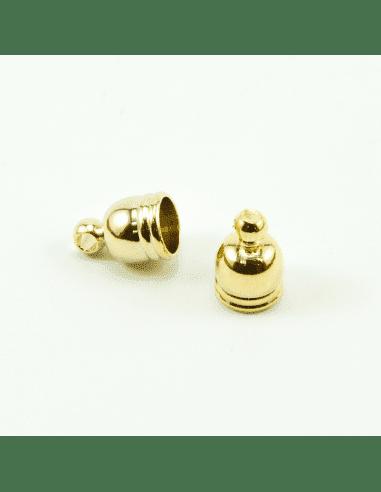 Концевик купол золото 5мм (арт. КЦ6)