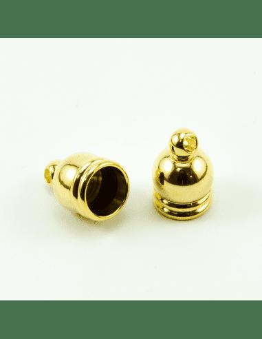 Концевик купол золото 6,5мм (арт. КЦ7)