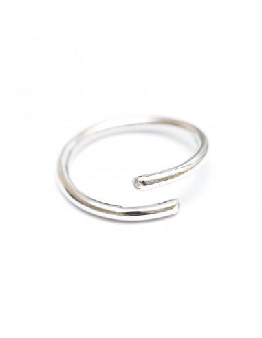 Кольцо с фианитом родий (арт. КЛ3)