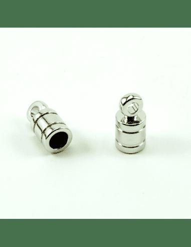 Концевик цилиндр родий 5мм (арт. КЦ27)