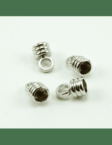 Концевик цилиндр родий 5мм (арт. КЦ34)