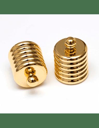 Концевик цилиндр золото 10мм (арт. КЦ40)